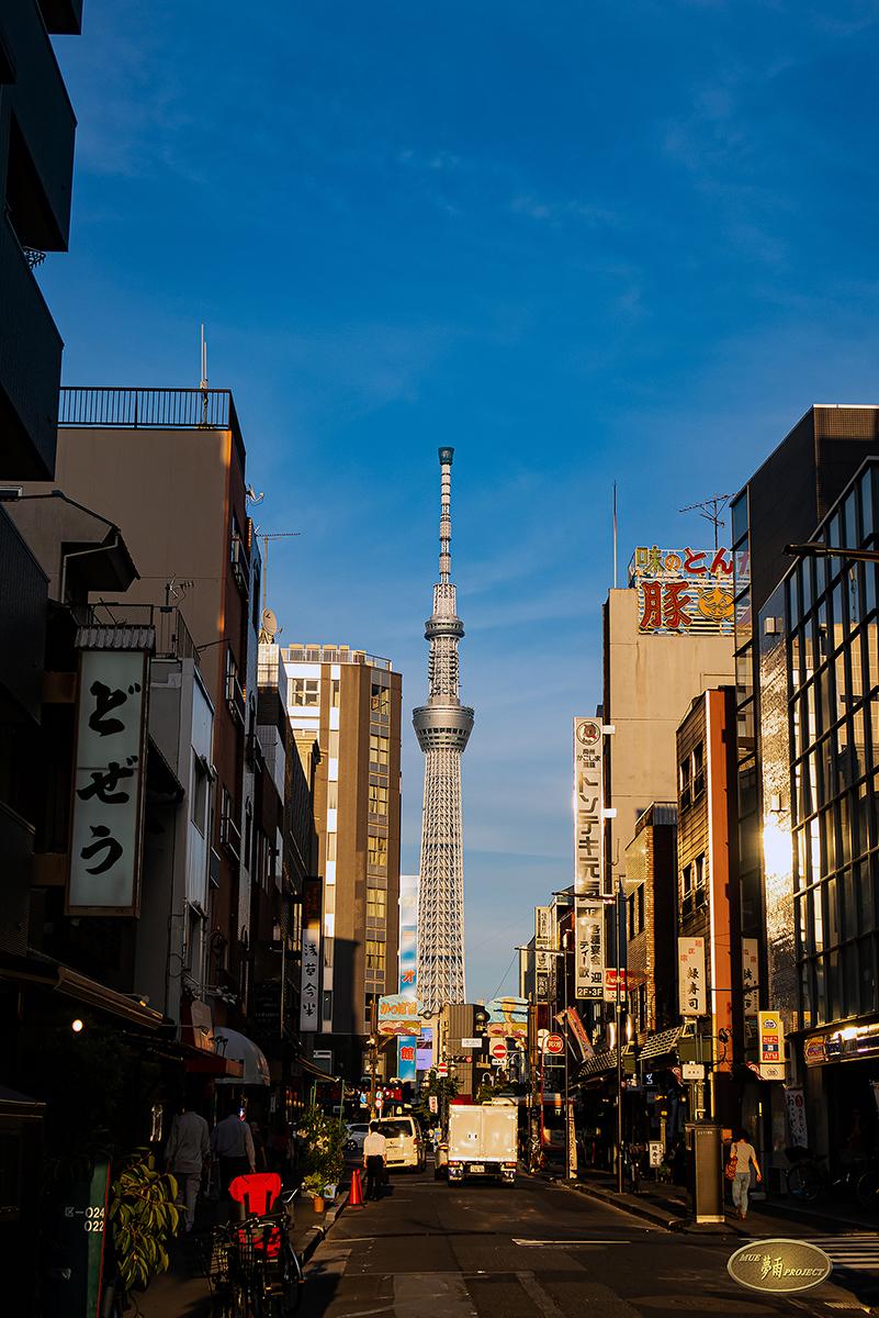 空が広い街・魅せられて~合羽橋本通り